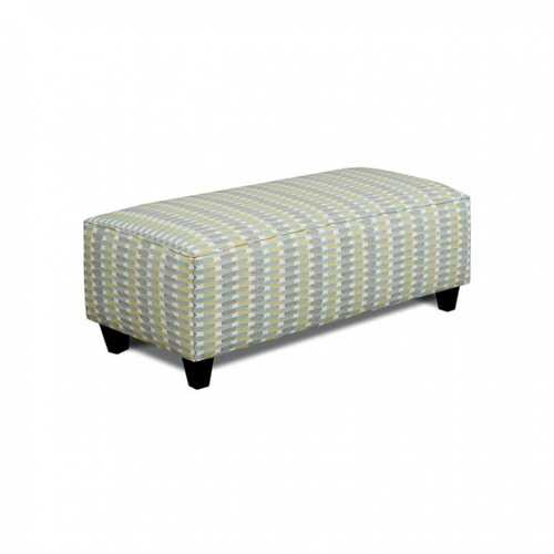 Transitional Ottoman, Soft Teal