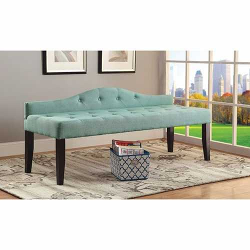 Alipaz Contemporary Large Bench, Blue Finish