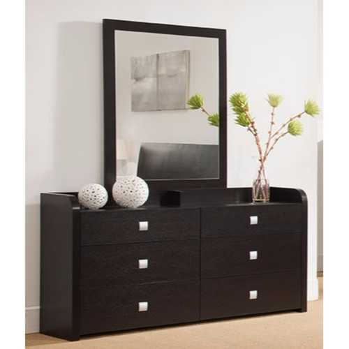 A beautiful Dresser With Six Drawers, Dark Brown.