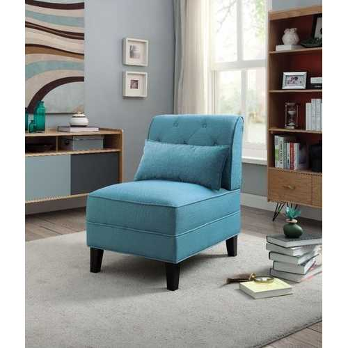 Accent Chair With Pillow, Blue