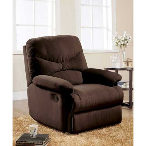 Arcadia Microfiber Glider Recliner, Chocolate Brown