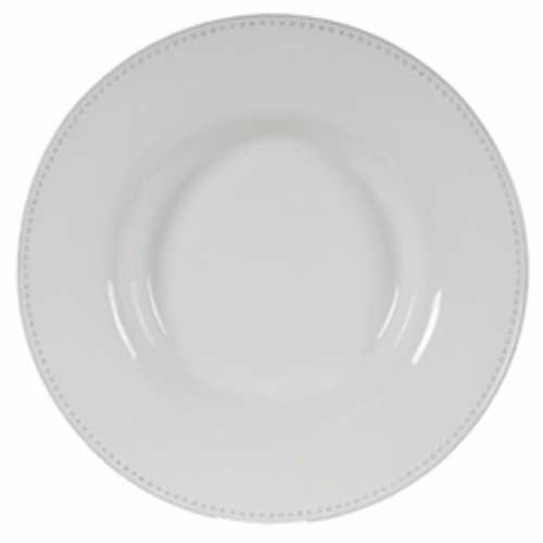 Enticing Round Decorative Porcelain Plate, White