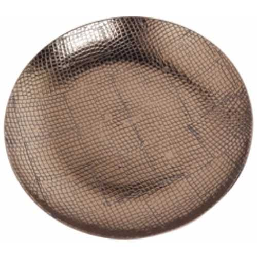 Ceramic Reptile Textured Decorative Plate, Brown