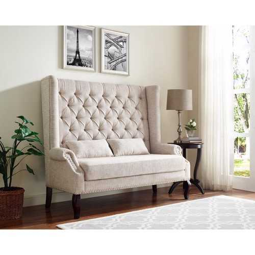 Alluring Loveseat In Lavish White