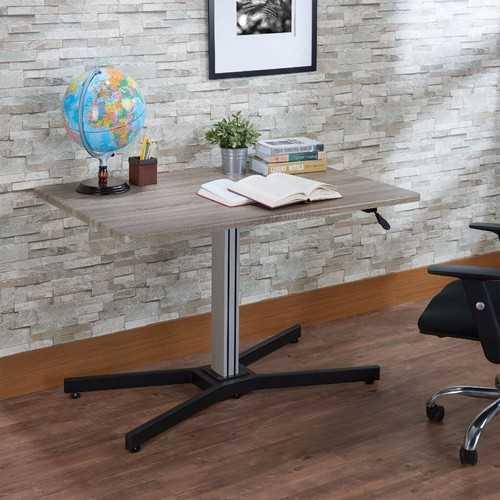 Astonishing Writing Desk With Lift Top, Gray Oak