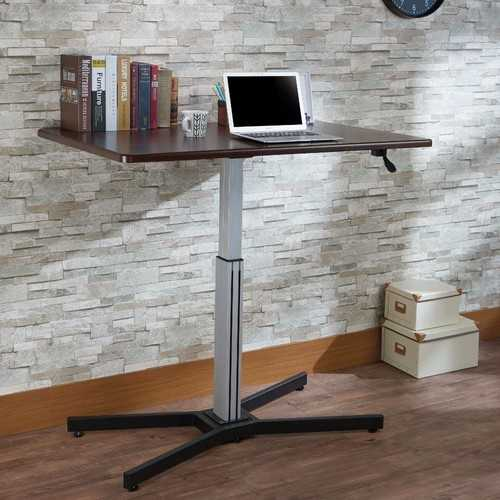 Astonishing Writing Desk With Lift Top, Espresso Brown