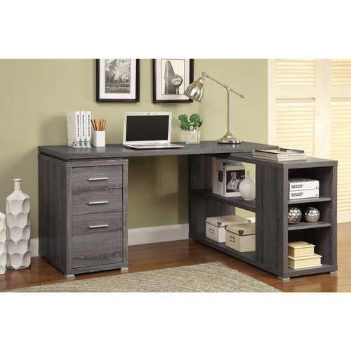 Modern Style Wooden Office Desk, Gray