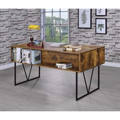 Writing Desk With 4 Drawers, Brown