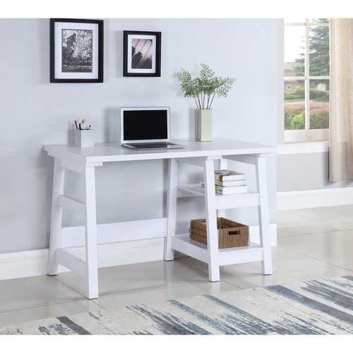 Sophisticated Wooden Writing Desk, White