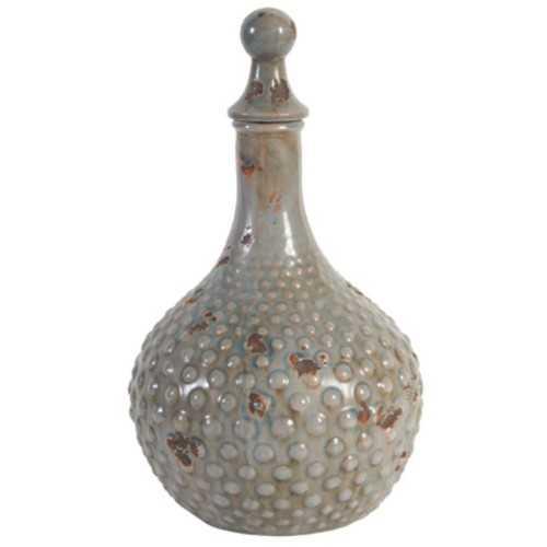 Ceramic Lidded Jar, Gray