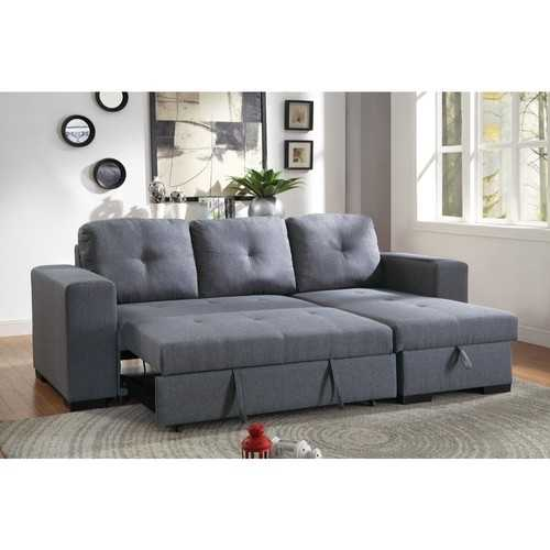 2 Piece Convertible Sectional Sofa In Gray