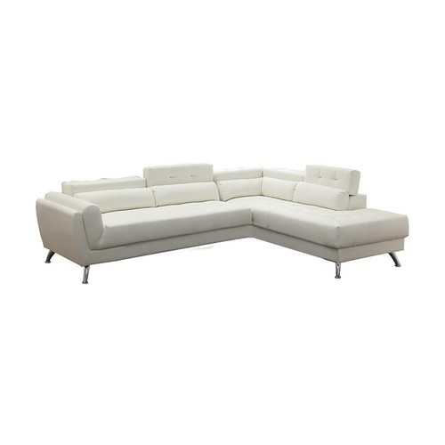 Bonded Leather 2 Piece Sectional In White
