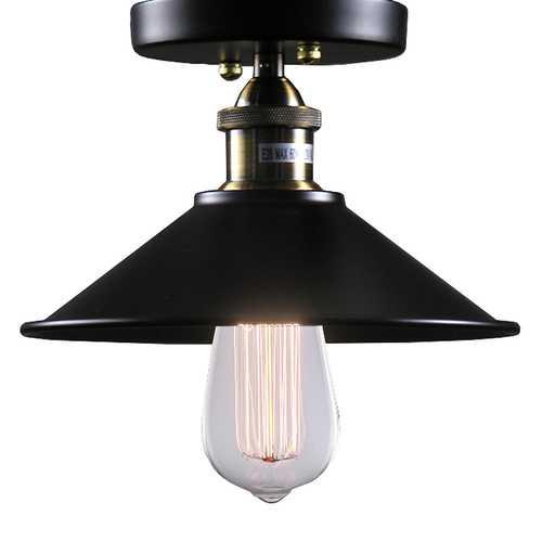 Louise 1-light Black Edison Lamp with Bulb