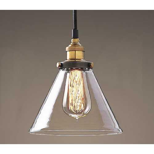 Leona 8-inch Adjustable Cord Glass Edison Lamp