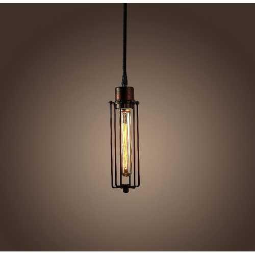 Lorelei 1-light Adjustable Height Antique Edison Pendant with Bulb