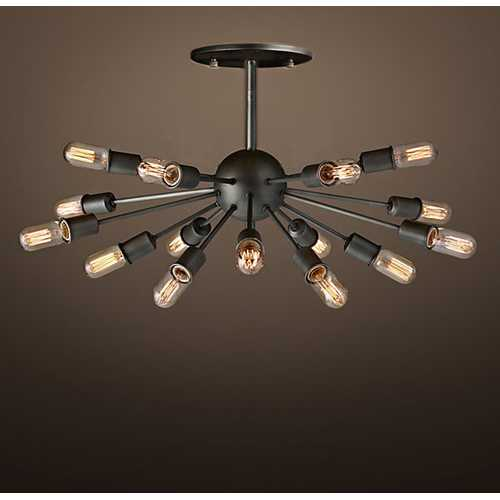 Lacee 14-light Antique 16-inch Metal Edison Chandelier with Bulbs