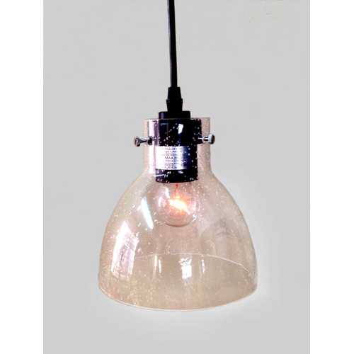 Latricia 1-light Adjustable Cord Glass Edison Pendant Light with Bulb