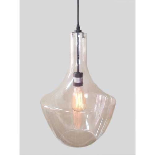 Laarni 1-light Adjustable Cord Glass Edison Pendant with Bulb