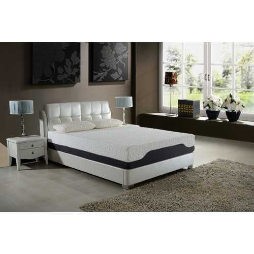"11.5"" Eastern King Plush Pocketed Coil Mattress with Cool Gel Memory Foam"