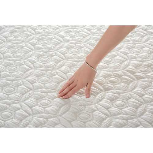 "11.5"" Queen Plush Pocketed Coil Mattress with Cool Gel Memory Foam"