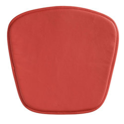 """17"""" X 17"""" X 0.5"""" Red Leatherette Wire Mesh Cushion"""