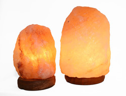 "6"" And 8"" Natural Shaped Himalayan Salt Lamp 1.6 And 1.8. Set Of 2 With Dimmer"