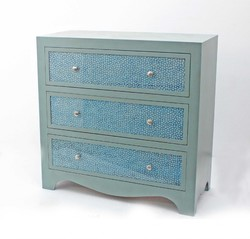 "14"" x 32"" x 31.75"" Blue, 3 Drawer - Console Table"