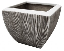 Large Distressed and Ribbed Flower Pot Planter