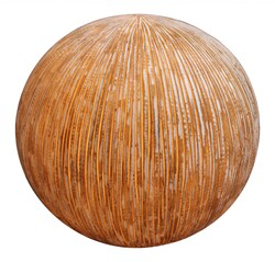 """1"""" x 16"""" x 14"""" Sandstone Ribbed Finish Outdoor Light - Ball"""
