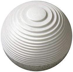 """1"""" x 14"""" x 12"""" White, Round With Lines And Light - Outdoor Ball"""