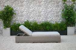 Outdoor Wicker Sunbed