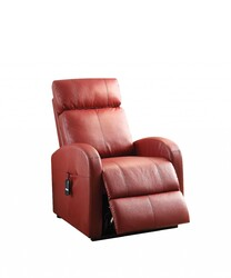 """28"""" X 37"""" X 40"""" Red Pu Recliner With Power Lift"""