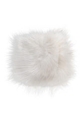 Natural Sheepskin White Square Super Soft Chair Pad