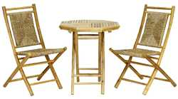 36' Natural Sea Grass Weave set of 2 Chairs and a Table