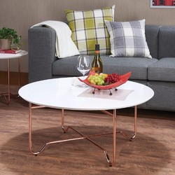 Enchanting Coffee Table, White & Copper