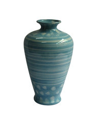 Adorning Urn Shaped Ceramic Vase, Green