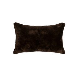 "12"" x 20"" x 5"" Chocolate Sheepskin - Pillow"