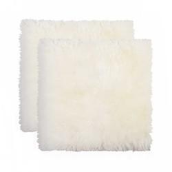 "17"" x 17"" x 2"" Natural Sheepskin Chair - Seat Cover 2 pcs"