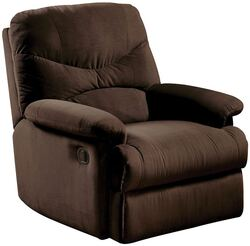 """34'.65"""" X 35'.04"""" X 39'.76"""" Chocolate Upholstered Motion Recliner"""