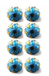 "1.5"" x 1.5"" x 1.5"" Blue, Black And Yellow - Knobs 8-Pack"