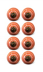 "1.5"" x 1.5"" x 1.5"" Bronze, White And Orange - Knobs 8-Pack"