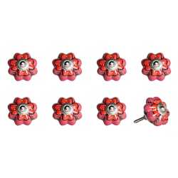 "1.5"" X 1.5"" X 1.5"" Hues Of Pink, Red And Green 8 Pack Knob-It"