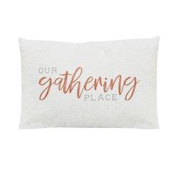 """""""Our Gathering Place"""" Lumbar Pillow"""