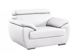 "32-38"" Captivating White Leather Chair"