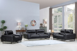 """102"""" Lovely Black Sofa Set"""