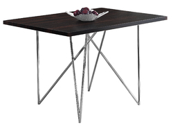 "31'.5"" x 47'.5"" x 30"" Cappuccino, Hollow-Core, Particle Board, Metal - Dining Table"