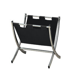 "17'.75"" x 15"" x 14'.5"" Black, Metal - Magazine Rack"