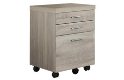 "17'.75"" x 18'.25"" x 25'.25"" Natural, Black, Particle Board, 3 Drawers - Filing Cabinet"