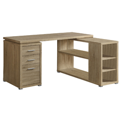 """29"""" Natural Particle Board, Hollow Core, And Mdf Computer Desk"""
