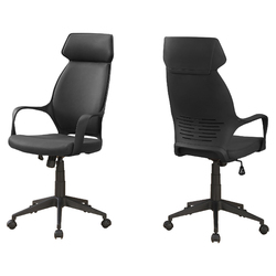 "26"" x 25"" x 96"" Black, Foam, Polypropylene, Microfiber - High Back Office Chair"